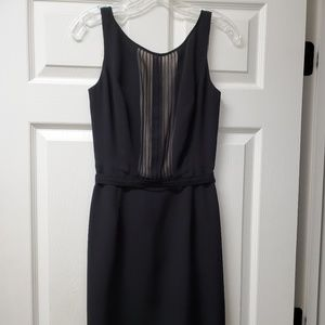 Kay Unger Black Silk Pintuck Cocktail Dress
